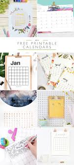 free printables archives elegance enchantment 40 free printable 2018 calendars squirrelly minds