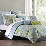 amazon com nova 3 piece duvet cover mini set blue king cal king