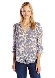 paisley blouse lucky brand lucky brand s paisley button front blouse