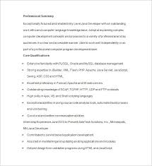 java resume java developer resume template 14 free sles exles