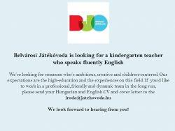 Kindergarten Teacher Resume Job Description by English Speaking Kindergarten Teacher Budapestjobs Net