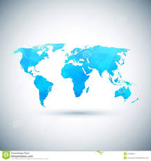 Vector World Map Low Poly Blue Vector World Map Stock Vector Image 51058664