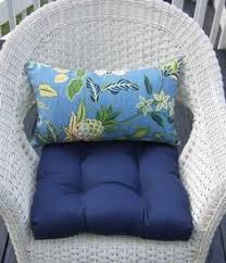 indoor outdoor wicker cushion and pillow 7 pc set preppy
