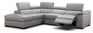 Contemporary Sectional With Chaise Perla Italian Leather Sectional Sofa With Power Recliner