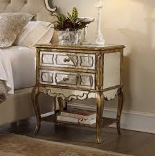 rustic mirrored nightstand with two drawers design and book