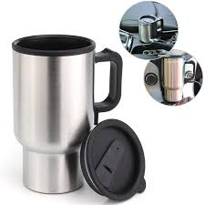 heated coffee mug 12v 450ml stainless steel cup kettle travel coffee heated mug car