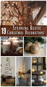 Ideas For Christmas Decorations Stunning Rustic Christmas Decorating Ideas Rustic Christmas