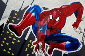 spiderman painting minorr deviantart