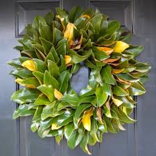 magnolia leaf garland decor charming magnolia wreath to decorate the front door area