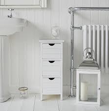 White Bathroom Storage by Dorset Slim 25cm Narrow White Bathroom Storage Furnitue With 3 Drawers