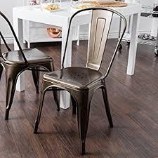 Tolix Bistro Chair Tabouret Bistro Vintage Bronze Steel Side Chairs