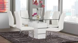 White Dining Room Table Sets Tria White 5 Pc Rectangle Dining Room Dining Room Sets Colors