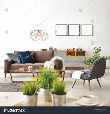 Modern Living Room Sofas Sofa Modern Livingom Sofa Armchair Vase Stock Photo Contemporary