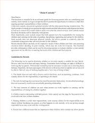 parenting agreement template