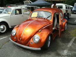 metallic orange vw with doors hello wheels pinterest