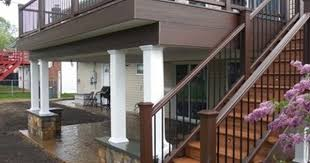Deck With Patio by Deck Designs And Plans Decks Com Free Plans Builders Designs