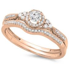 Wedding Rings For Her by New Rose Gold Wedding Ring Set With And The Same Set On My Hand