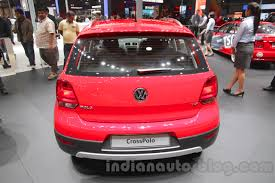 volkswagen polo 2016 red 2016 vw cross polo rear at the auto expo 2016 indian autos blog