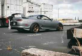 tuned supra car guy u0027s dream tuned gray toyota supra on adv6 rims u2014 carid com