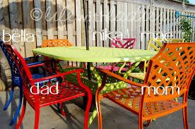 Rustoleum For Metal Patio Furniture - thrifty thursday patio set redux