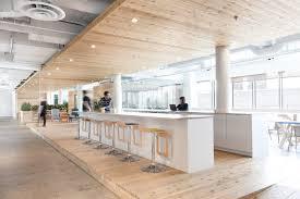 Wooden Interior Wooden Walkway Traverses Ovh Office Interior By Pierre Thibault