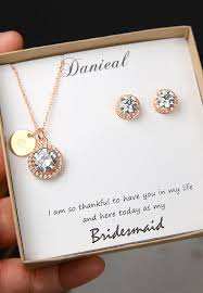personalized jewelry gift boxes gold bridesmaids necklace personalized bridesmaids gift