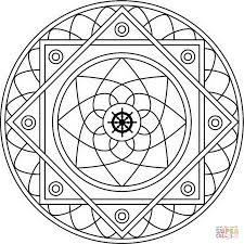 mandala with samsara coloring page free printable coloring pages