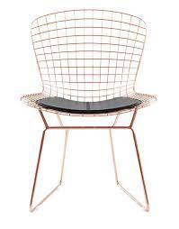 Bertoia Dining Chair Bertoia Side Chair In Gold Finish Mid Century Bertoia Wire