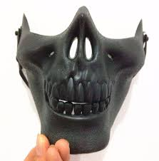 Super Scary Halloween Masks Cheap Custom Newest Style Scary Mask Half Face Skull Halloween