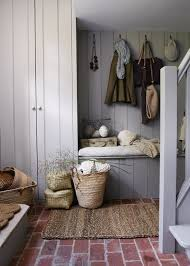 brick floor mudroom julie blanner entertaining home design