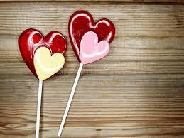 s day lollipops heart lollipops sweet s day on wooden background