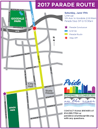 Ccw Map Parade Columbus Ohio Pride Festival 2017