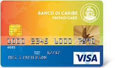 prepaid cards banco di caribe service bank on curaçao aruba sint