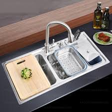 Sinks Stainless Steel Kitchen by Multi Functional Double Sinks Stainless Steel Kitchen Sinks With