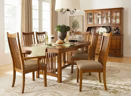 crystal ridge table 2 arm chairs and 4 side chairs oak levin