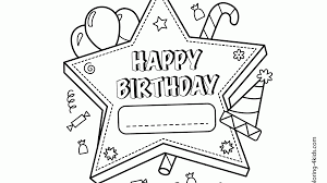 birthday coloring pages boy great happy birthday cake printable coloring pages surprising kids