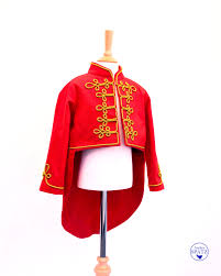 sgt pepper halloween costume kids circus ringmaster costume coat only red tailcoat with