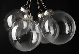 clear glass 3 25in ornament balls