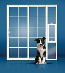 Patio Door With Pet Door Built In Seattle Entry Patio Door Replacement Foggy Window Repair