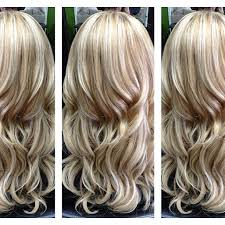 caramel lowlights in blonde hair probably too light for me but i love the color and highlights