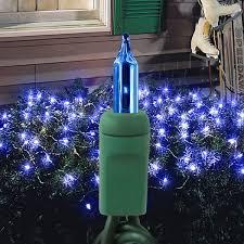 150 blue bulbs net lights 4 ft x 6 ft green