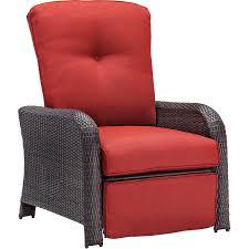 amazon com hanover strathmere outdoor luxury recliner rich