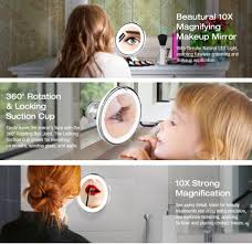 amazon com beautural 10x magnifying lighted vanity makeup mirror