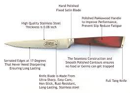 kitchen knives that never need sharpening zorini steak knives premium stainless steel steak