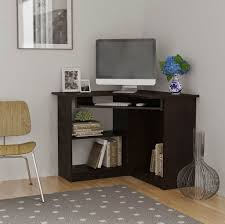 furniture luxury black computer corner desk with hutch small