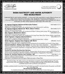 mechanical engineering jobs in dubai for freshers 2013 nissan jobs in dubai electricity and water authority vacancies in dubai