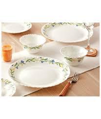 larah by borosil cripper print dinner set 19 pieces 4 full