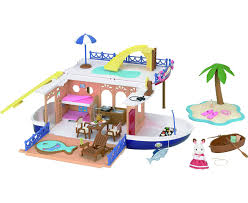 Sylvanian Families Garden Playground Sylvanian Families Seaside Cruiser House Boat Jac In A Box