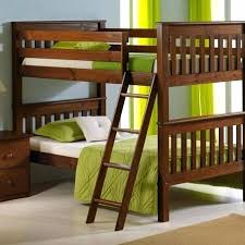 Solid Wood Bunk Beds Uk Convertible Bunk Bed Oak Finish Solid Wood Mission Style