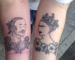 frida kahlo and van gogh on my arms on we heart it